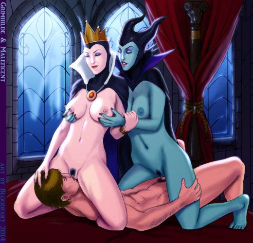 Evil Queen x Maleficent Facesitting ~ Disney