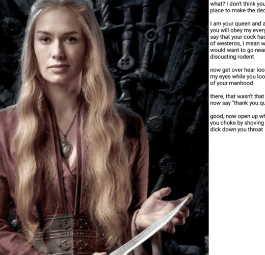 Game of Thrones Femdom Captions
