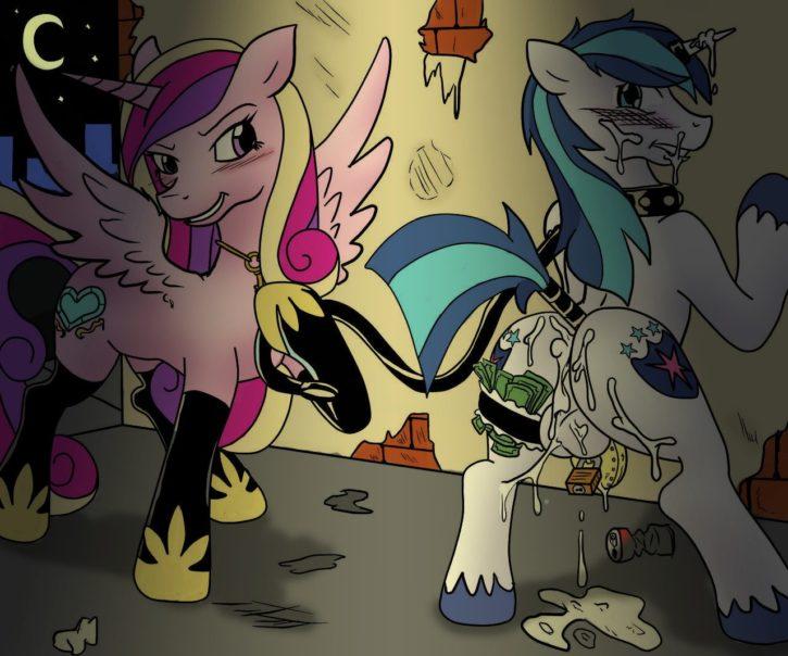 1266851 - Friendship_is_Magic MuhArt My_Little_Pony Princess_Cadence Shining_Armor poprocks