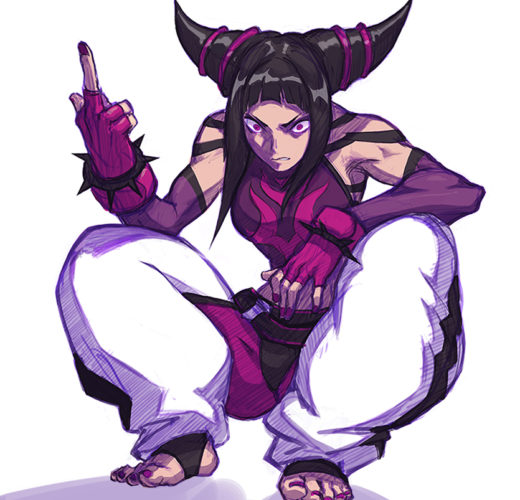 Juri Han Middle Finger ~ Street Fighter