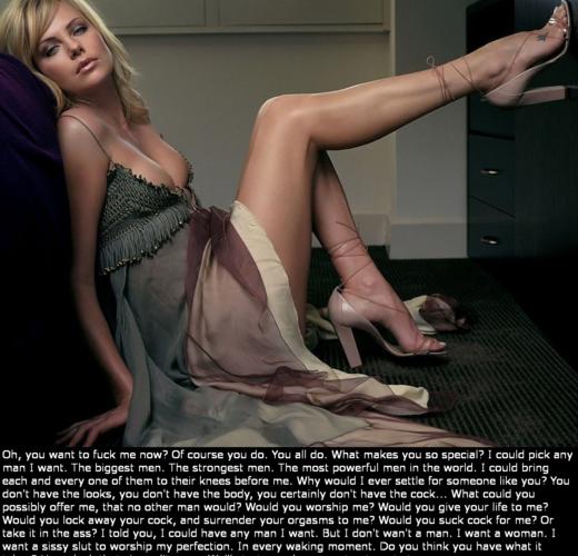 Charlize Theron's Sissy Slave ~ Celebrity