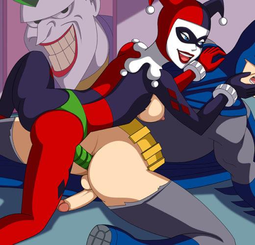 Harley Quinn Pegging Batman ~ DC Comics Femdom