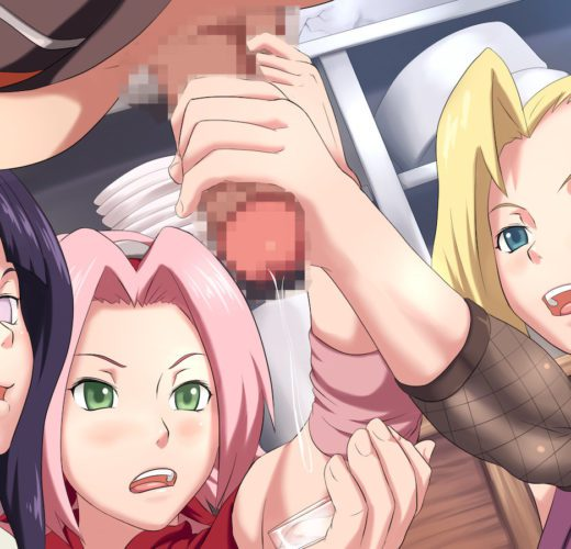 Sakura x Hinata x Ino Milking ~ Naruto Femdom