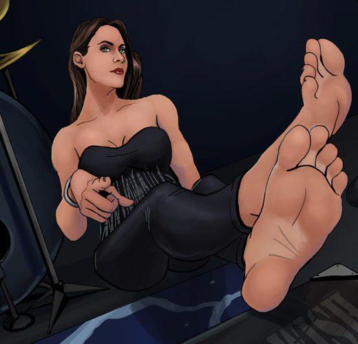 Floor Jansen Foot Worship ~ Celebrity Rule 34 by Bigfootfantasies