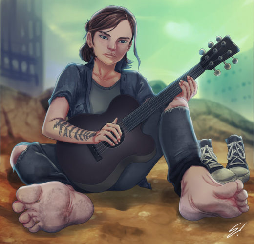 Ellie Foot Dom ~ The Last of Us Part II Femdom