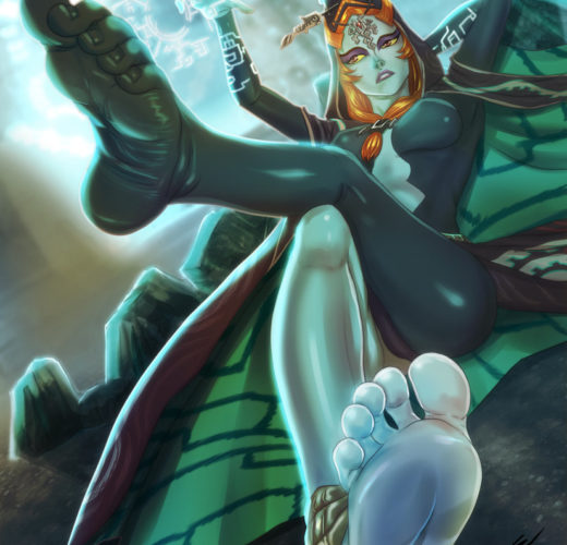 Midna's Magical Feet ~ Legend of Zelda Femdom