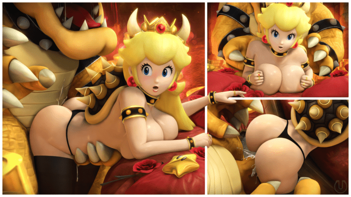 Peach Cuckolds Mario With Bowser ~ Nintendo Femdom