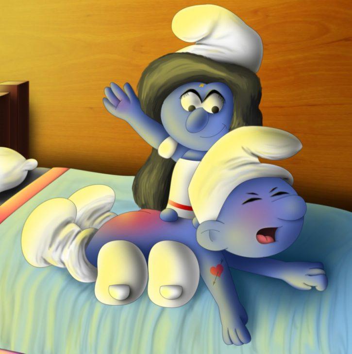 Smurfette Spanking ~ The Smurfs Femdom