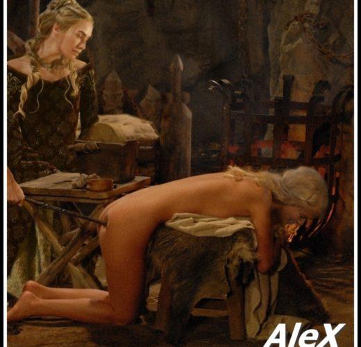 Cersei Brands Daenerys ~ Game of Thrones Lezdom