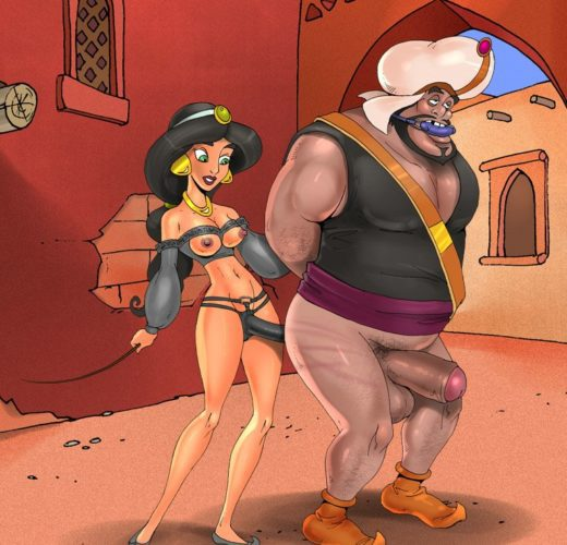 Jasmine Pegging ~ Aladdin Femdom