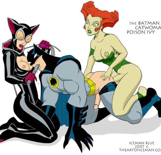Poison Ivy x Catwoman Double Team Batman ~ DC Femdom