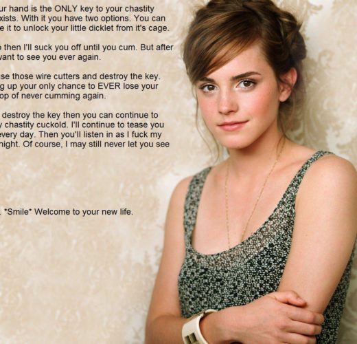 Your New Life as Emma Watson's Chastity Slave ~ Celeb Femdom