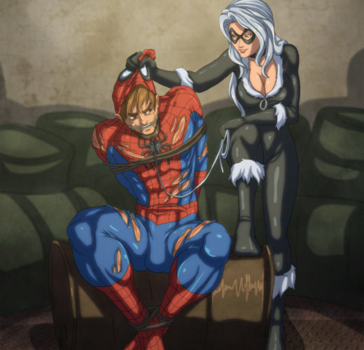 Black Cat Dominates Spider-Man ~ Marvel Femdom