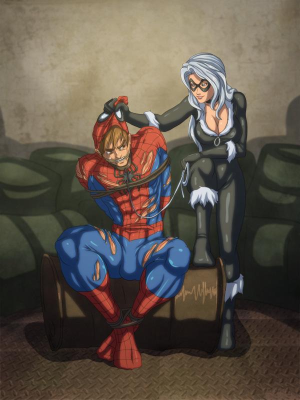 Black Cat Dominates Spider-Man ~ Marvel Femdom
