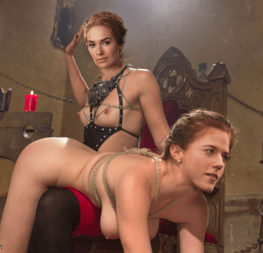 Cersei Lannister Spanks Ygritte ~ Game of Thrones Lezdom