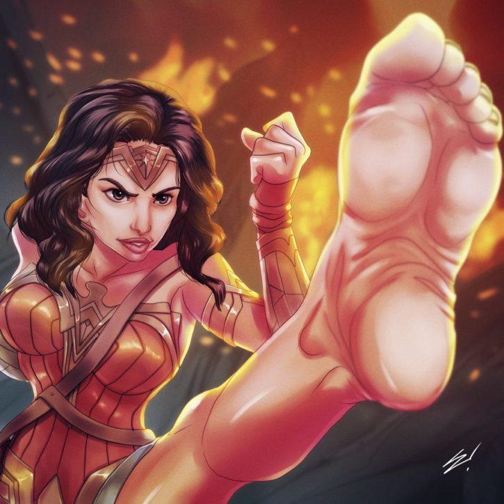 Wonder Woman Foot Worship ~ DC Femdom