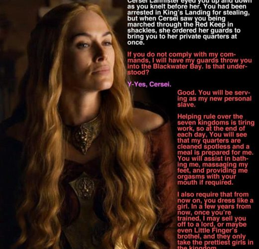 Cersei's New Slave ~ Game of Thrones Caption Story by TREVer2
