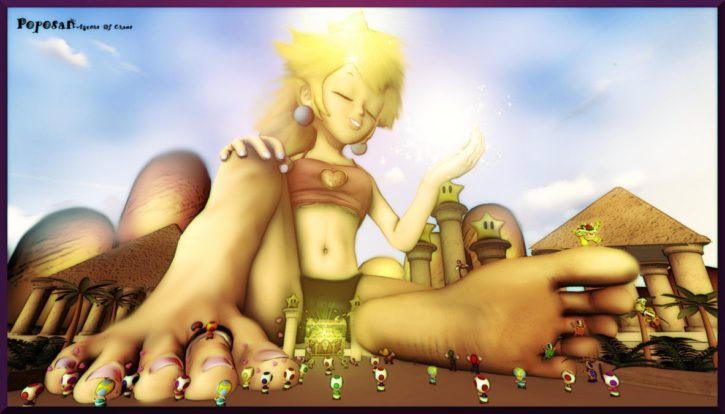 Giantess Princess Peach ~ Video Game Femdom by Poposan