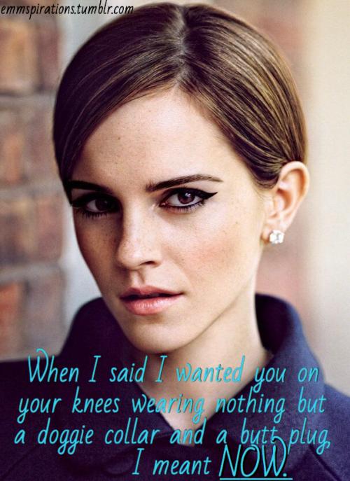 More Emma Watson Captions ~ Celebrity Femdom