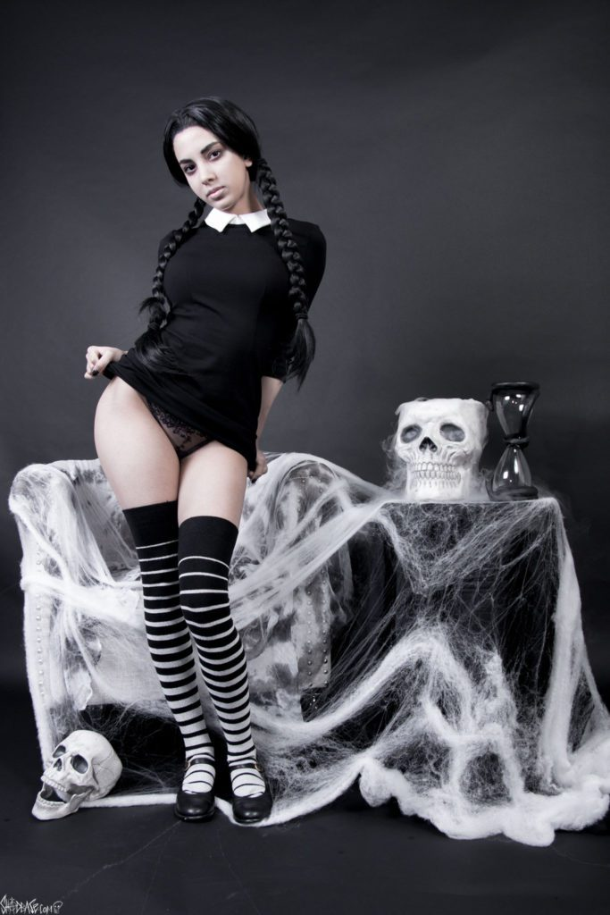 Wednesday Addams Foot Worship ~ Cosplay by Swimsuit Succubus