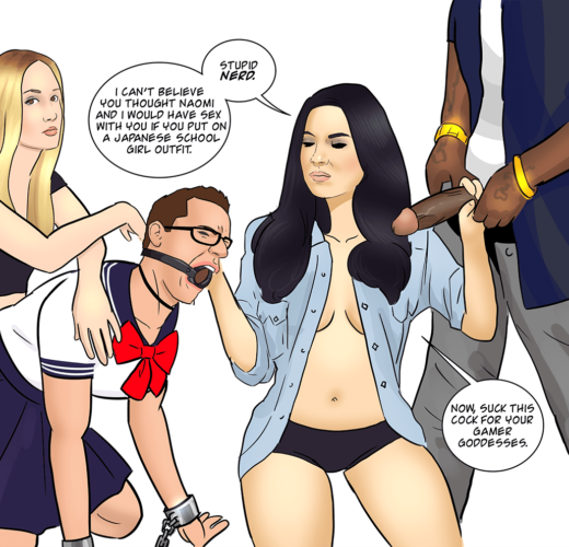 Olivia Munn and Naomi Kyle's Sissy Cuck ~ Celebrity Femdom by safewordignored