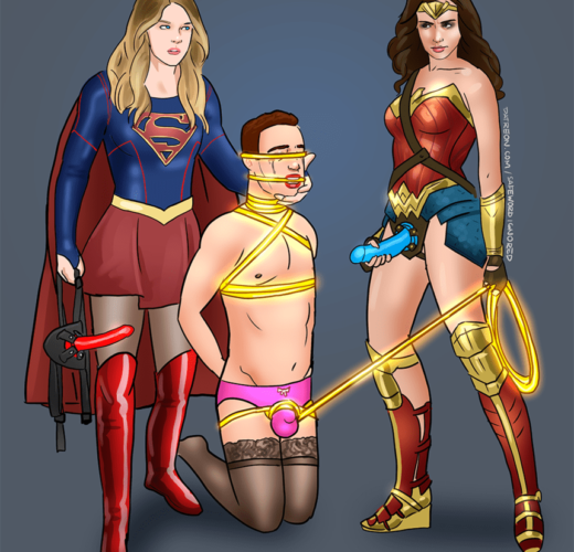 Supergirl x Wonder Woman ~ Comic Book Femdom by safewordignored