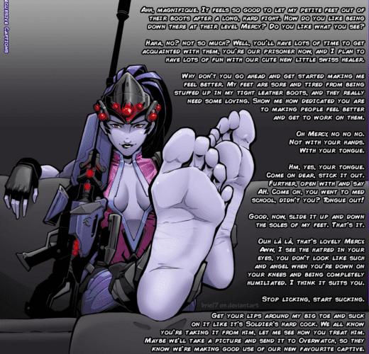 Widowmaker's Foot Slave ~ Overwatch Femdom Caption by Briel7