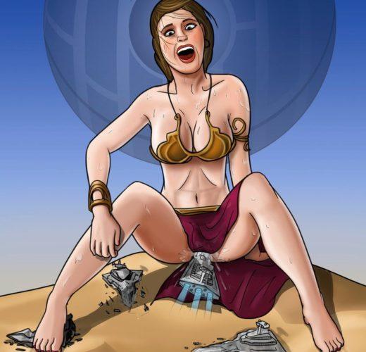 Giantess Slave Leia ~ Star Wars Femdom by Spuski