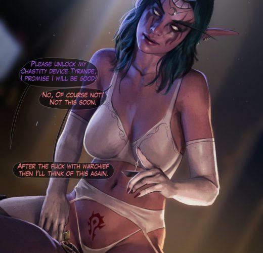 Chastity Mistress Tyrande ~ World of Warcraft Porn by Firolian