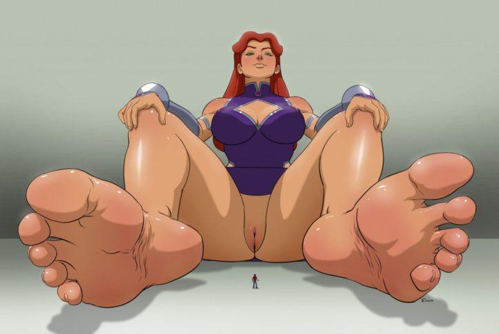 Giantess Starfire ~ DC Comics Femdom Porn by Einom
