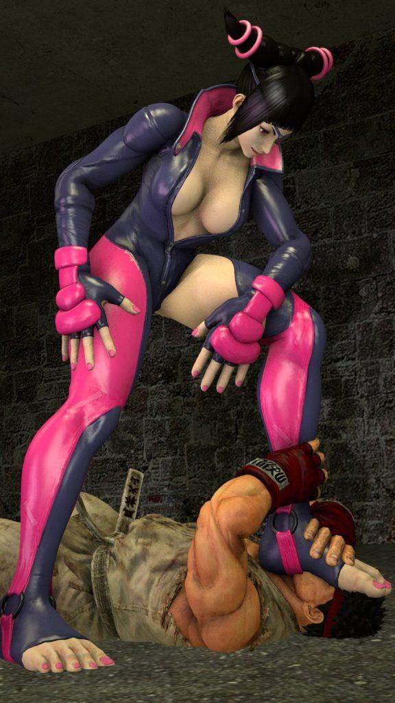 Juri Han Defeats Ryu ~ Street Fighter Femdom by BlueAurora3
