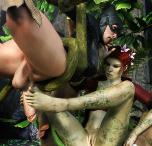 Poison Ivy Feminizes Batman ~ DC Comics Femdom by Dawadd