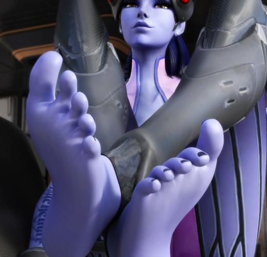 Widowmaker's Feet ~ Overwatch Femdom by Dawadd