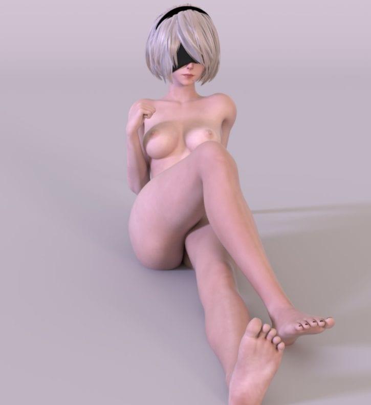 2B Foot Worship ~ Nier: Automata ~ By Kruel-Kaiser