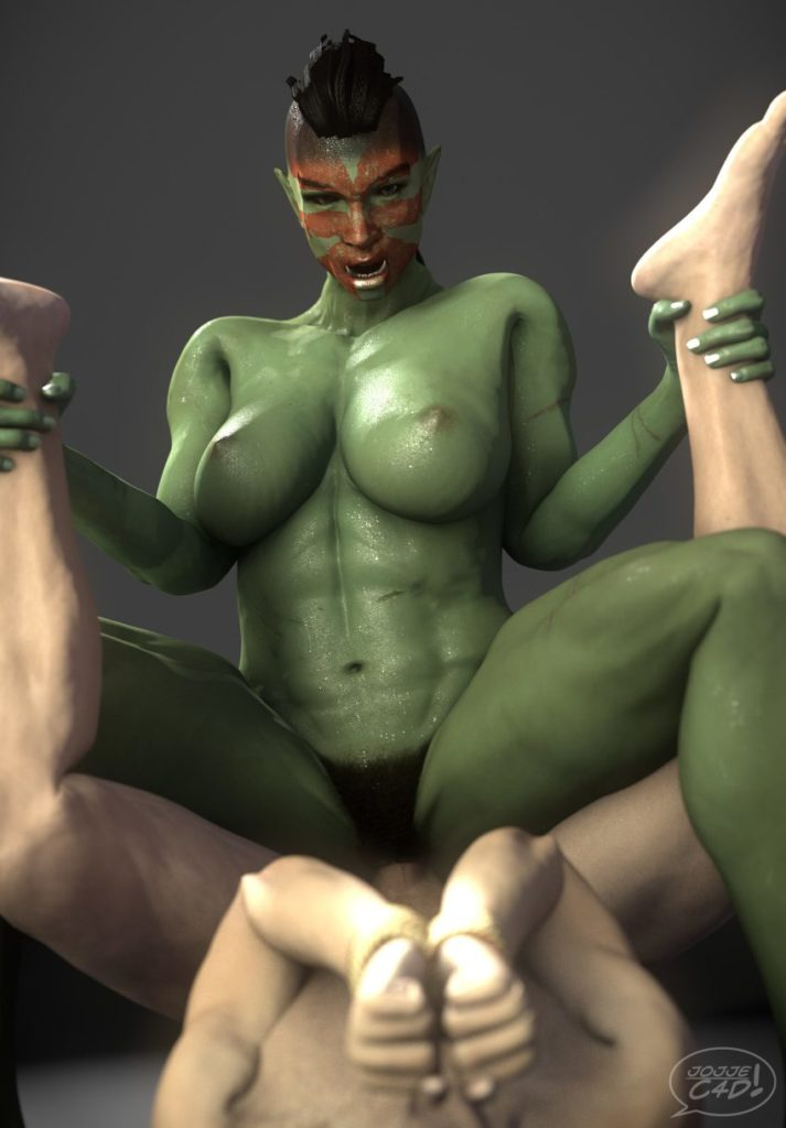 Female Orc Riding Amazon Style ~ Skyrim Femdom by Jojje