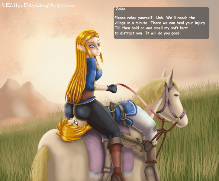 Princess Zelda's Horseback Facesitting ~ Legend of Zelda Femdom by Keijix