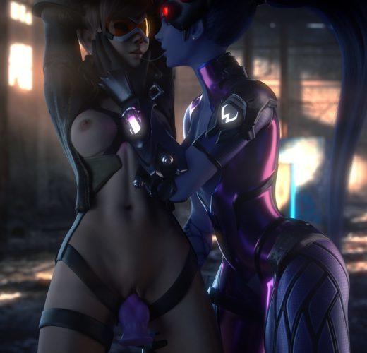 Widowmaker x Tracer Lezdom ~ Overwatch Porn by VGErotica