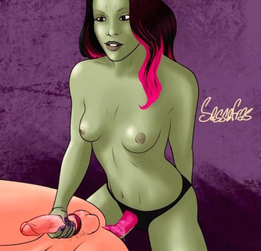 Gamora Pegging ~ Marvel Cinematic Universe ~ By Sassafras