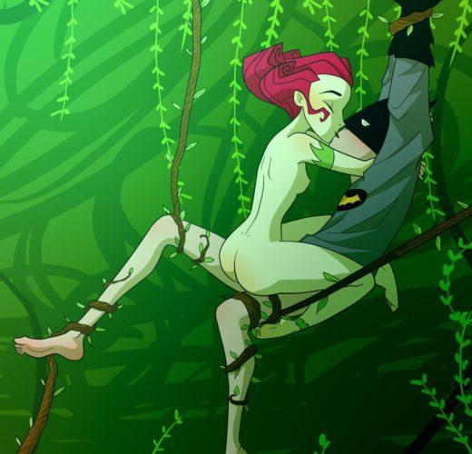 Poison Ivy x Batman ~ DC Comics ~ By RebeccaRains