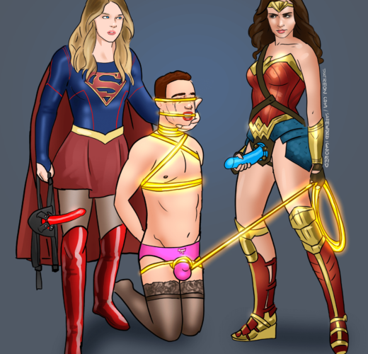 Supergirl x Wonderwoman Pegging ~ DC Comics ~ By SafeWordIgnored