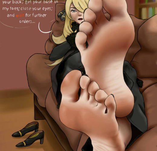 Worshipping Cynthia's Toes ~ Pokemon