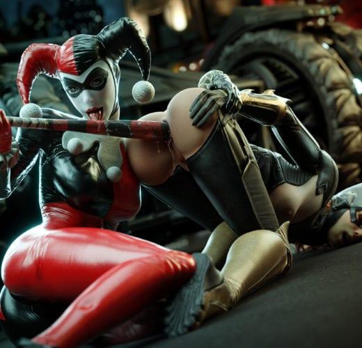 Harley Quinn Lezdom ~ DC Comics ~ By FireboxStudio