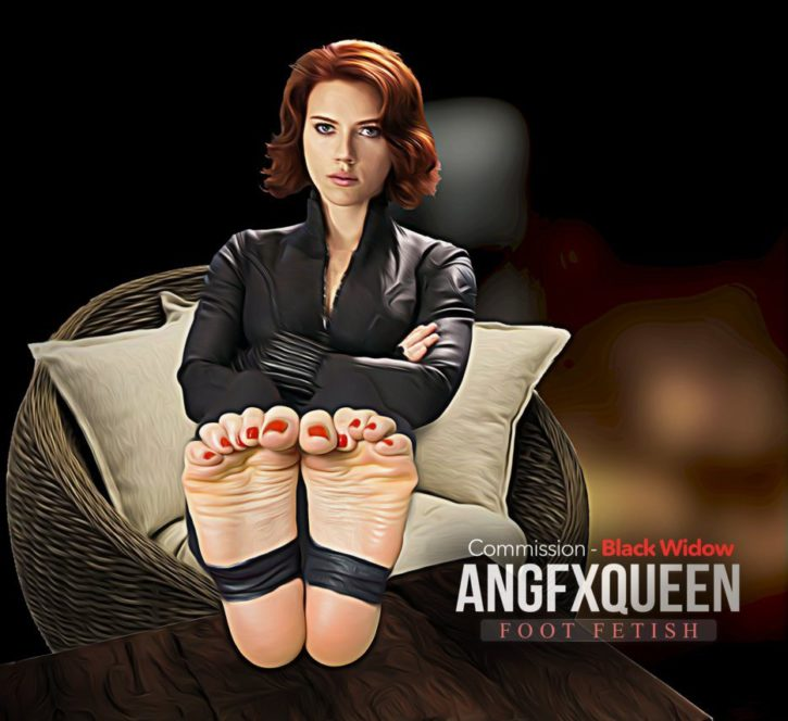 Black Widow Foot Worship ~ Marvel ~ By ANGFXQUEEN