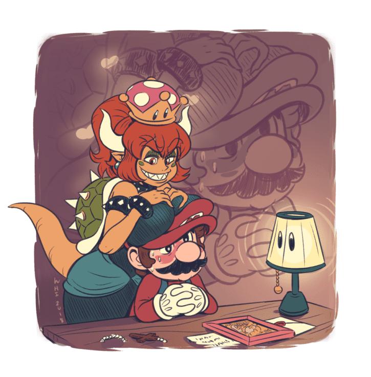 Bowsette Futadom ~ Mario ~ By WideHipSink