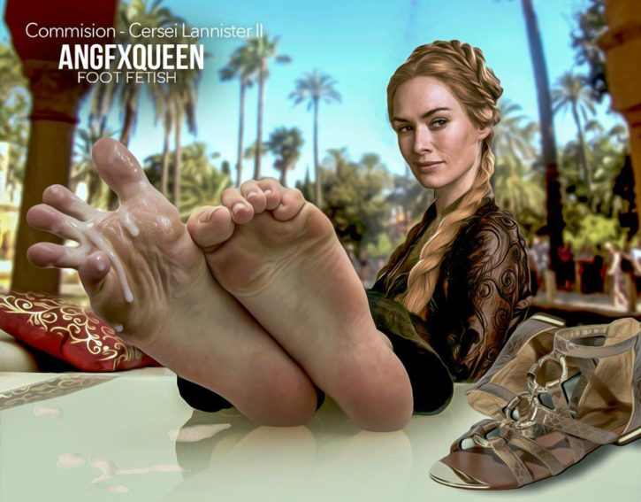 Cersei Lannister Foot Worship ~ Game of Thrones ~ By ANGFXQUEEN