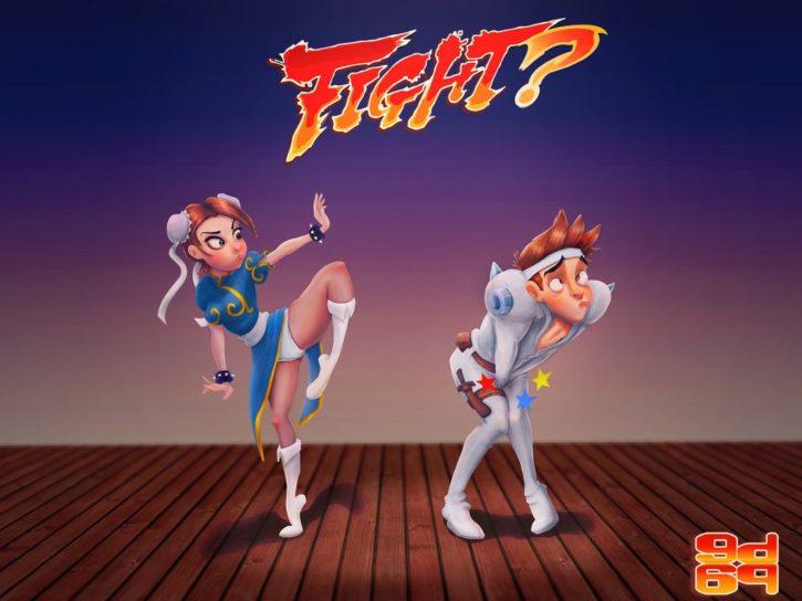 Chun-Li Ballbusting ~ Street Fighter ~ By GrumpyDude69