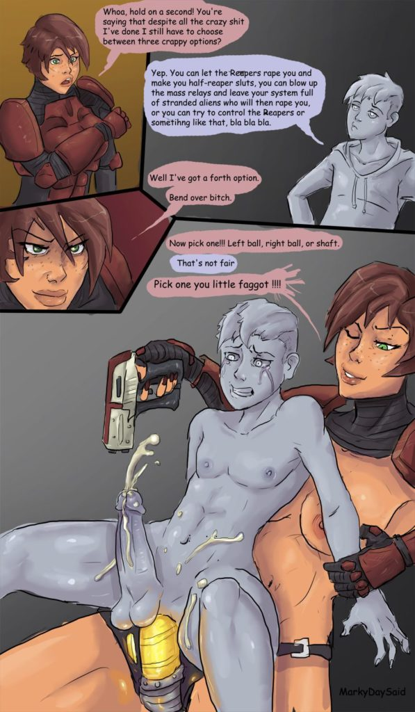 Commander FemShep Pegging and Castration ~ Mass Effect ~ By MarkyDaySaid