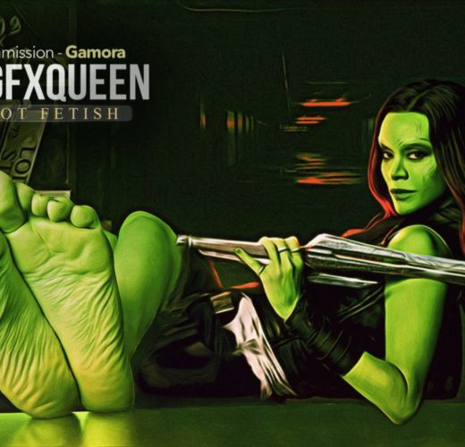 Gamora Foot Worship ~ Marvel ~ By ANGFXQUEEN