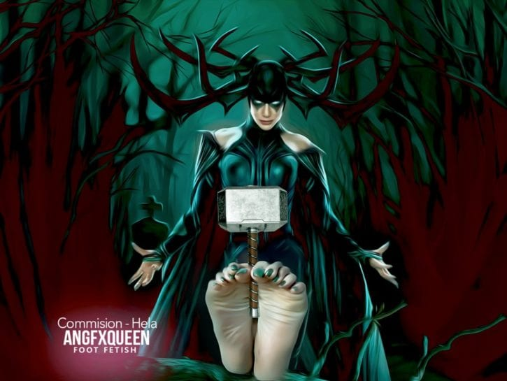 Hela Foot Worship ~ Marvel Cinematic Universe ~ By ANGFXQUEEN