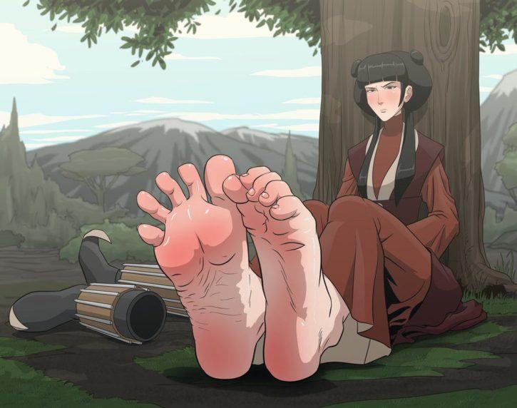 Mai Foot Worship ~ Avatar: The Last Airbender ~ By Einom